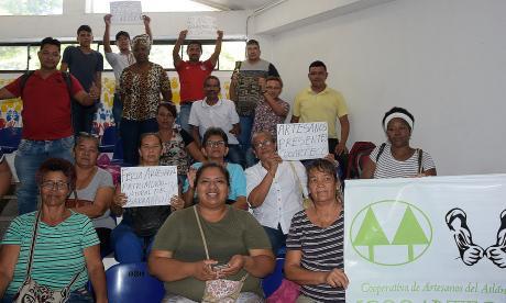 Artesanos piden que los dejen trabajar en los Centroamericanos
