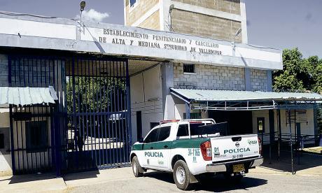 Entrada principal del penal ubicado en el Cesar.