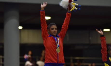 Salto dorado de Cuba en la gimnasia artística femenina