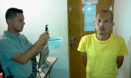 Juan Carlos Sánchez Latorre en la diligencia del lunes anterior en Venezuela.