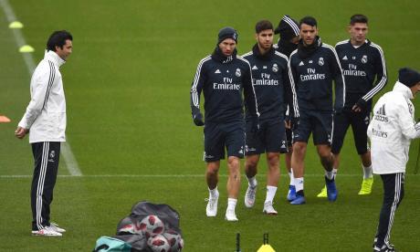 Solari dirige su primer entrenamiento con el Real Madrid