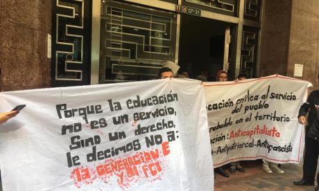Manifestantes se tomaron sede de Mininterior en Bogotá