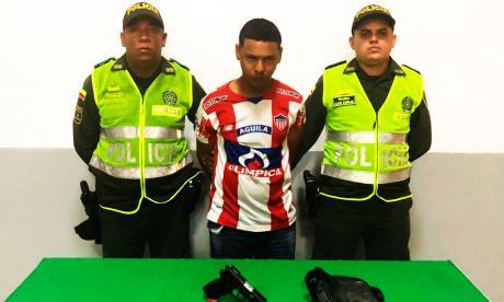 En video   Policía detiene a alias el Menor por robo en entidad bancaria