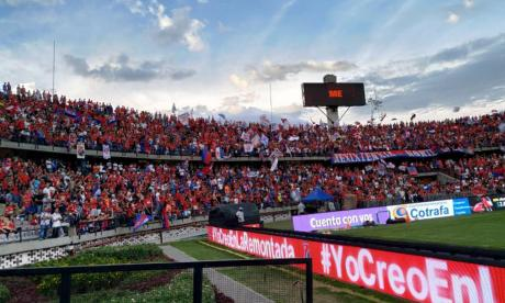 La tribuna norte del estadio Atanasio Girardot.