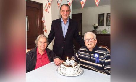 Gladys De la Rosa, Eduardo Verano De la Rosa y Eduardo Verano Prieto (QEPD).