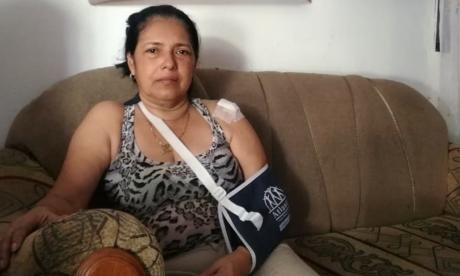 Neyla Isabel Vásquez Carrillo, madre de Julieth Gómez Vásquez, fallecida.