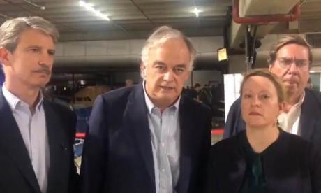 Los eurodiputados a su llegada a Venezuela.