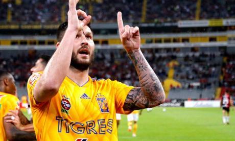 André-Pierre Gignac marcó su gol número 100 con Tigres de México