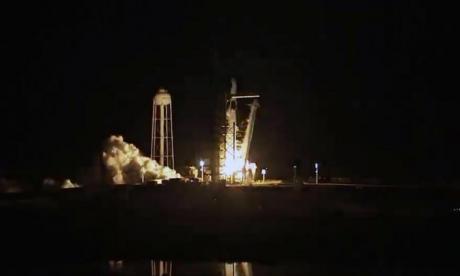 La nueva cápsula de SpaceX parte al espacio