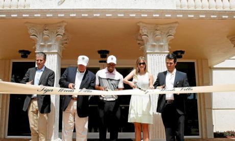 Tiger junto a la familia Trump en Doral, en 2014