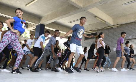 El grupo de danza Afrolatina de La Luz se reúne a ensayar y compartir dos veces a la semana.
