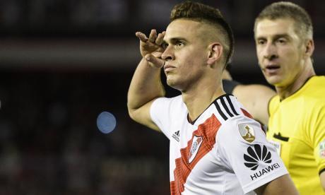 Conmebol sanciona a Santos Borré con dos fechas sin jugar en Libertadores