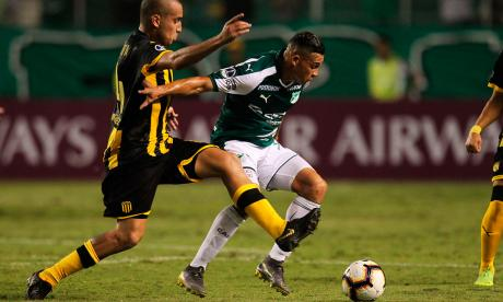 Gol agónico de Carlos Rodríguez salva a Cali de caer en casa con Peñarol