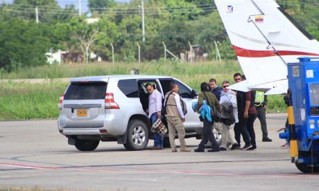 Santrich llega a ETCR Pondores, en La Guajira