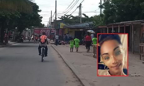 Sector dle barrio la Central, en Soledad, donde se produjo el homicidio de Jean Carlos Martínez Ospino.