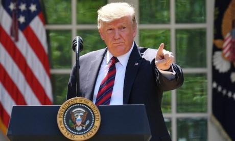 Trump plantea como error derrumbe de un dron por parte de Irán