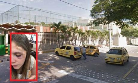 Carrera 53 con calle 90, sitio donde fue golpeada y asaltada la joven Valerie Royero.