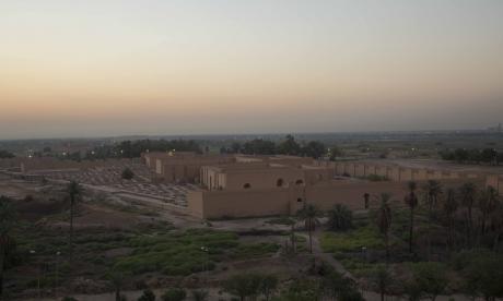 El conjunto mesopotámico de Babilonia, en Irak, ocupa un área de 10 km2.