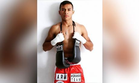 El púgil mexicano Adolfo 'Lee' Castillo, de 24 años.