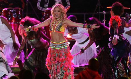 Shakira durante su interpretación del