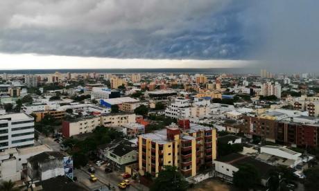 Tarde bajo la lluvia en gran parte del sur, norte y centro de Barranquilla