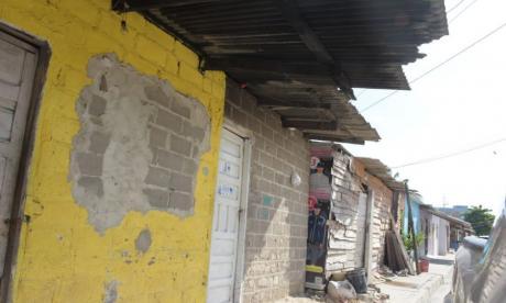 Sector del barrio Rebolo donde fue baleado el hombre.