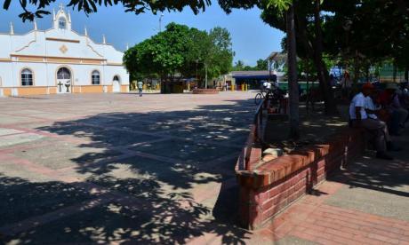 Panorámica plaza principal de El Copey, Cesar.