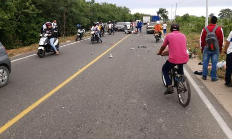 Choque de motos en Malambo deja dos heridos, uno de ellos patrullero de la Policía