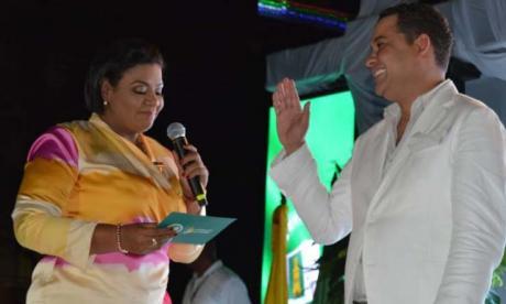 El Gobernador de la Guajira, Nemesio Roys, durante su acto de posesión el pasado primero de enero.