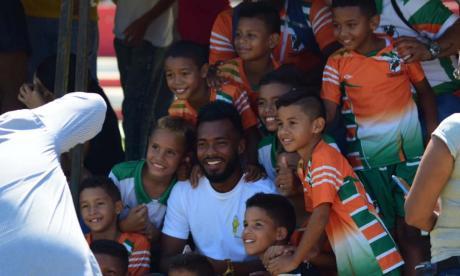'Cariaco' fue a ver a su hijo en Caribe Champions