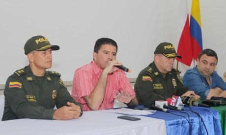 Aspecto del consejo de seguridad realizado en Soledad.
