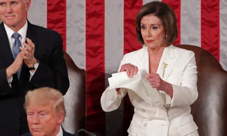 En video | Demócrata Nancy Pelosi rompe el discurso de Trump ante el Congreso