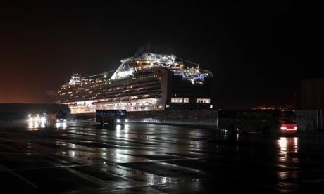 El crucero en cuarentena: el mayor foco del Covid-19
