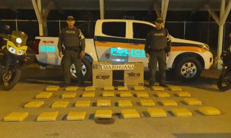 Policía decomisó 51 kilos de marihuana en una encomienda con destino a Cereté