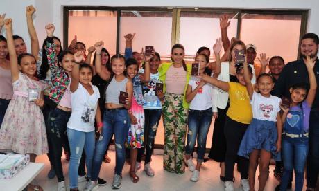Algunas de las niñas que irán a conocer la sede de la Nasa en Estados Unidos.