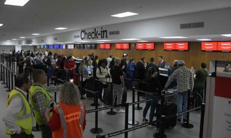 Aspecto de la nueva zona de chek-in del Aeropuerto Internacional Ernesto Cortissoz.