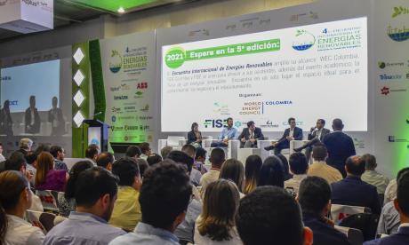 Panel del encuentro de energías renovables.