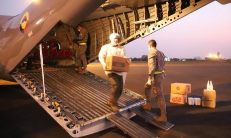 Fuerza Aérea traslada elementos de protección al Caribe