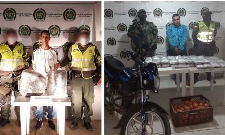 Dos hombres fueron detenidos con 36 kilos de marihuana en Magdalena