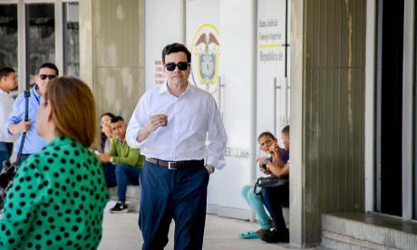 Ramsés Vargas al dirigirse a una de las audiencias judiciales por su caso.
