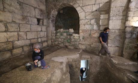 Hallan complejo subterráneo de hace dos milenios en la antigua Jerusalén