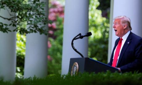 El presidente de Estados Unidos, Donald Trump, fue registrado la víspera, durante una intervención en los jardínes de la Casa Blanca, en Washington DC (EE.UU.) / EFE