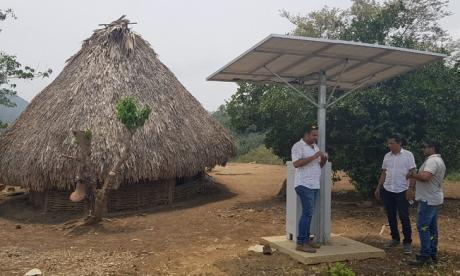 Una vivienda en los Montes de María beneficiada con servicio de energía solar dispuesta por el Gobierno.
