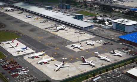 Los vuelos nacionales están suspendidos desde el 25 de marzo.