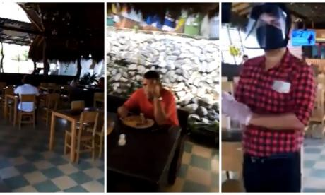 Sorprenden a funcionario en Galapa violando aislamiento en restaurante