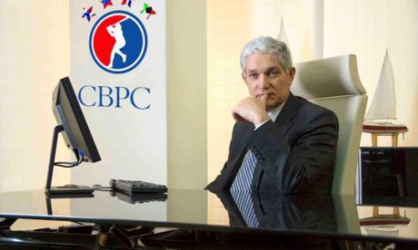 Juan Francisco Puello, comisionado de la Confederación de Béisbol del Caribe.