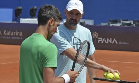 Goran Ivanisevic junto a Novak Djokovic.