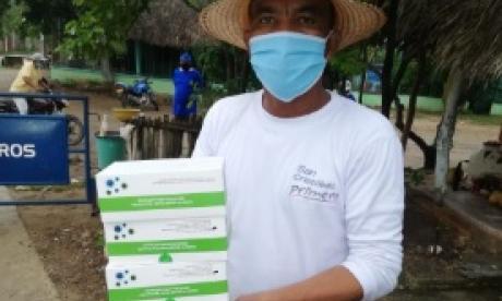 Algunas de las pruebas rápidas para COVID-19 distribuidas en los municipios de Bolívar.