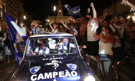 Los hinchas del Porto salieron a la calle a celebrar