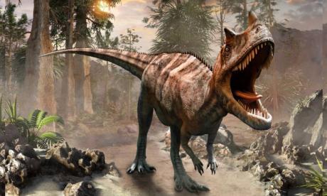 Ilustración de un tiranosaurio rex. Vivió a finales del período Cretácico.